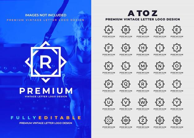 Premium vintage a to z all letter logo