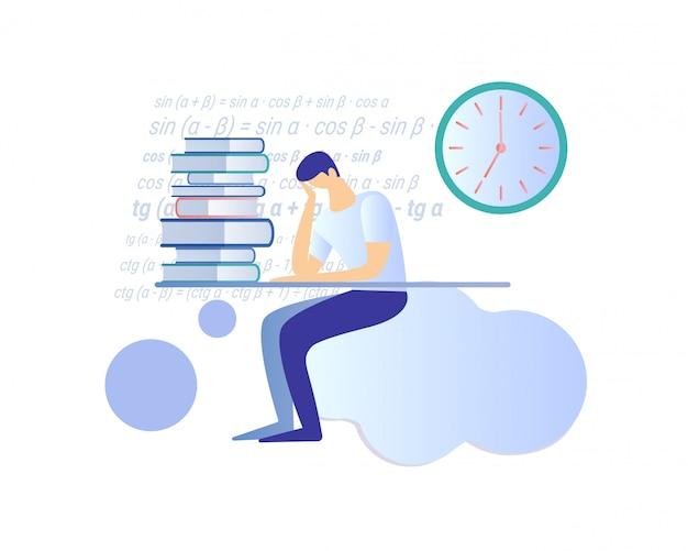 Preparación del carácter del estudiante para el examen.