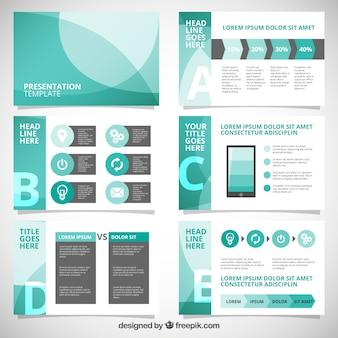 Presentación abstracta de negocios con infografía