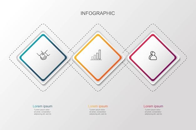 Presentación de concepto creativo de visualización de datos empresariales para infografía.
