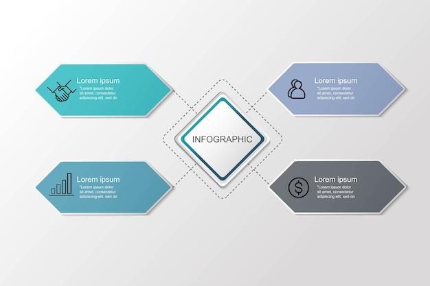 Presentación creativa de visualización de datos empresariales para infografía.