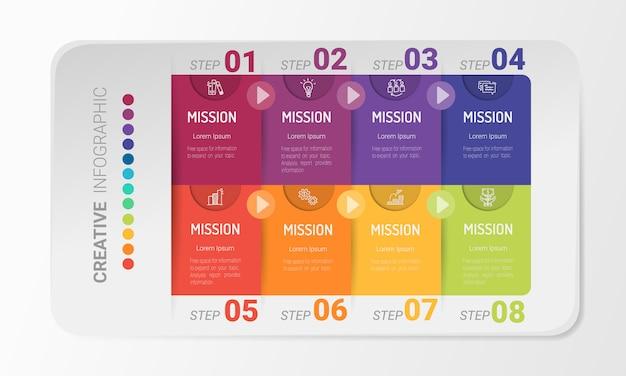 Presentación de diseño infográfico.