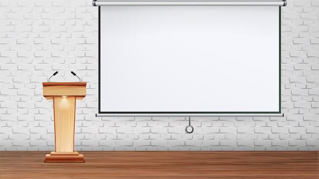 Presentación de diseño o sala de conferencias