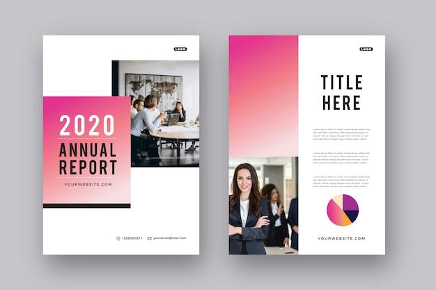 Presentación de diseño de plantilla de folleto