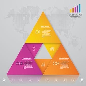 Presentación del elemento infográfico gráfico.