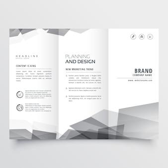 Presentación de folleto estilo tríptico sutil