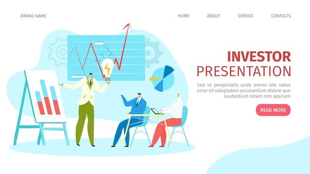 Presentación para la ilustración de la página web del inversor.
