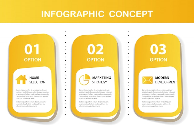 Presentación infografía amarilla