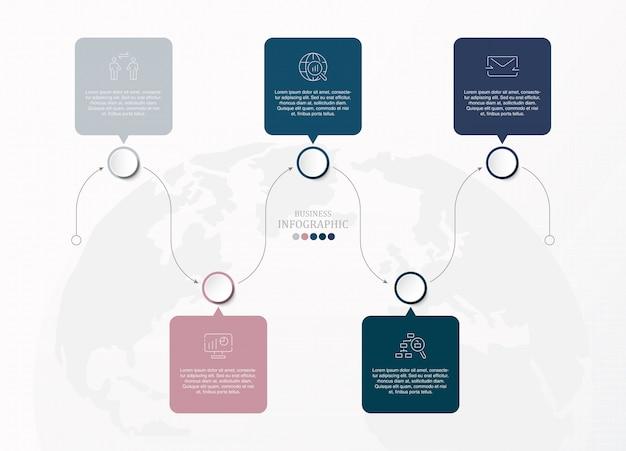 Presentación infográfica para el concepto de negocio.