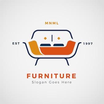 Presentación del logo de muebles minimalistas