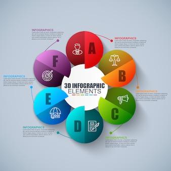Presentación negocio infografía 3d