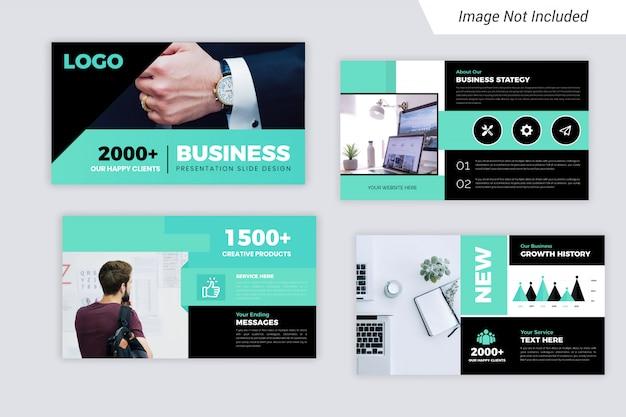 Presentación de negocios corporativos de blue element diseño de diapositivas