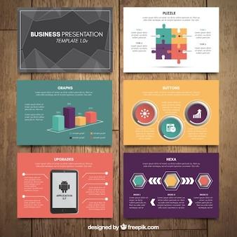 Presentación de negocios con gráficos