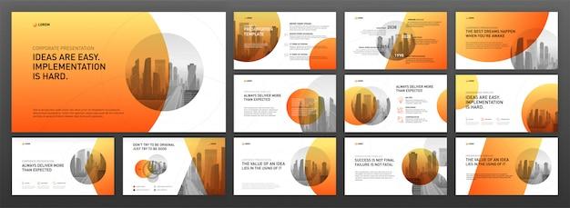 Presentación de negocios plantillas de powerpoint set