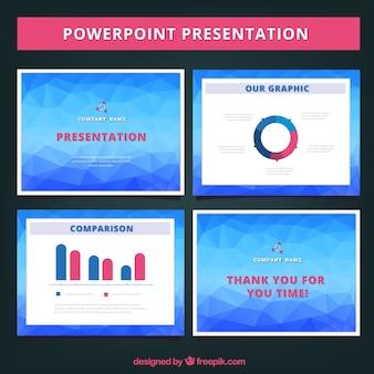 Presentación de negocios poligonal