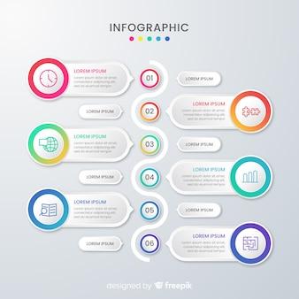 Presentación plantilla de infografía empresarial y cuadros de texto
