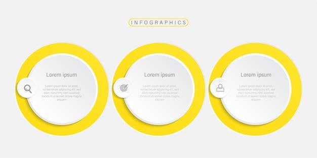 Presentación plantilla de infografía empresarial con iconos