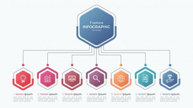 Presentación plantilla de infografía empresarial con opciones.