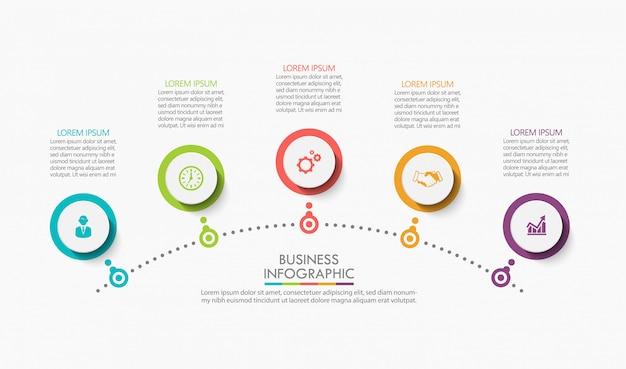 Presentación plantilla de infografía empresarial.