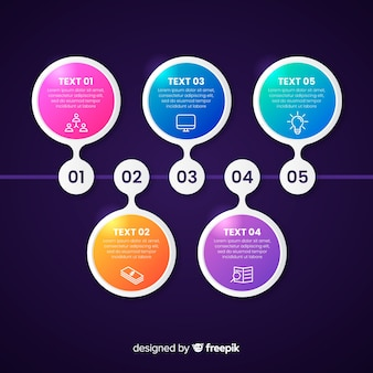 Presentación plantilla de infografía de línea de tiempo de negocios