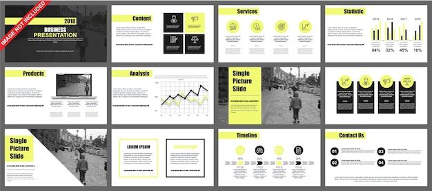 Presentación de powerpoint de negocios diapositivas plantillas de elementos de infografía.