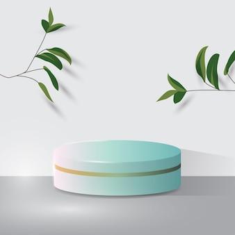 Presentación de producto, espectáculo de producto cosmético, podio, pedestal o plataforma de escenario.