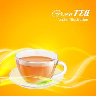 Presentación de taza de té para empaque