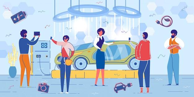Presentación del transporte eléctrico ecológico.