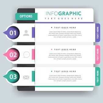 Presentación de vectores infográficos opcionales