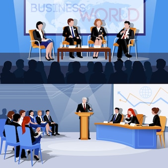 Presentaciones de conferencias internacionales de negocios del mundo.