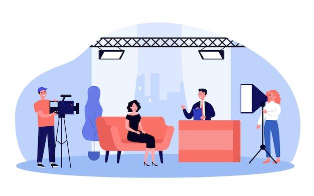Presentadora en un programa de televisión