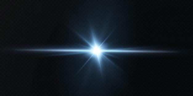 Presentamos los efectos de los conjuntos de luces de neón vectoriales que brillan en azul