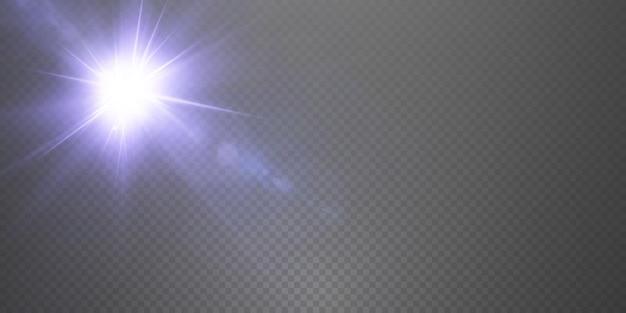 Presentamos los efectos de los juegos de luces de neón que brillan en azul