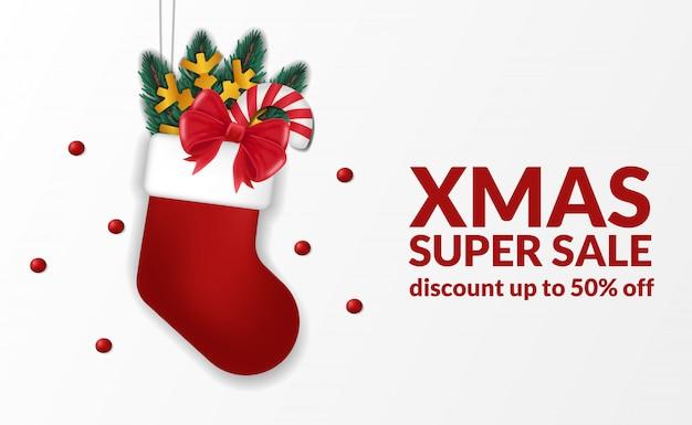 Presente calcetín navidad super venta