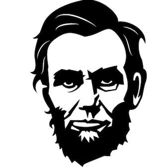 Presidente americano retrato de abraham lincoln