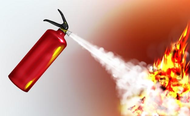 Presión de extinción, extintor de incendios de mano que rocía agente de extinción de incendios
