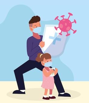 Prevención padre y niña