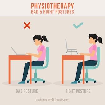 Prevención con postura correcta
