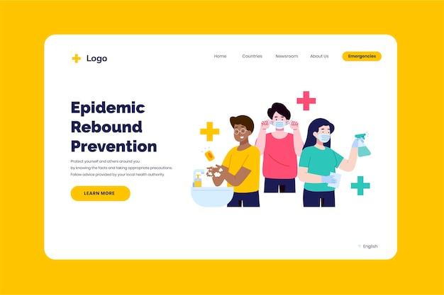 Prevenir plantilla de página de destino de rebote epidémico