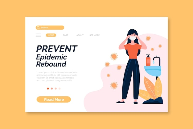 Prevenir el rebote epidémico - página de inicio