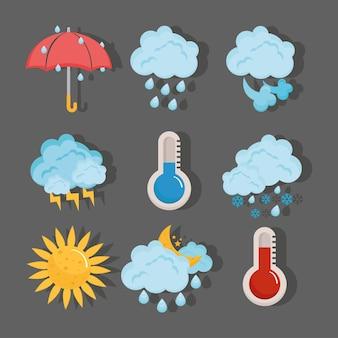 Previsión meteorológica nueve elementos
