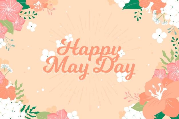 Primavera floral feliz día de mayo