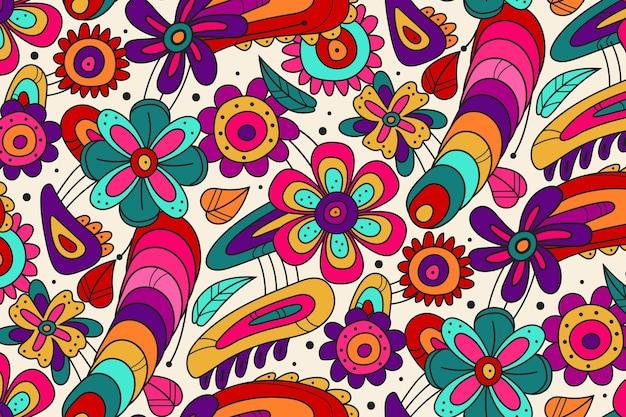 Primavera floreciente patrón floral maravilloso