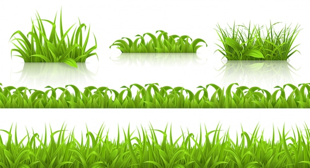 Primavera hierba de patrones sin fisuras ys, 3d