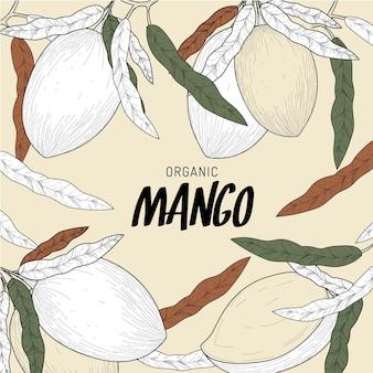 Primer plano de árbol de mango botánico