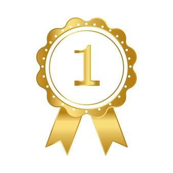 Primer premio premio vector de cinta