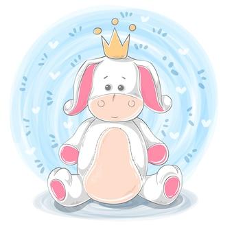 Princesa burro dibujos animados animales personajes