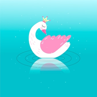 Princesa linda del cisne
