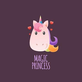 Princesa mágica del unicornio