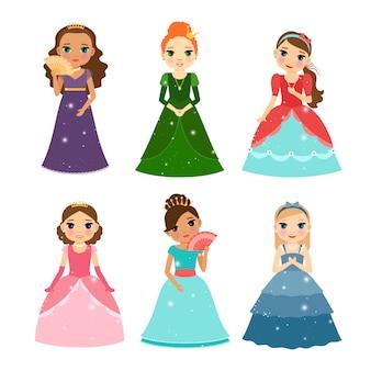 La princesita se mira en el espejo.
